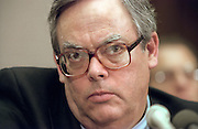 White House Counsel Charles Ruff testifies before the House Judiciary Committee Clinton impeachment hearing December 9, 1998 in Washington, DC.