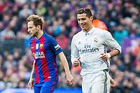 FC Barcelona's Ivan Rakitic , Real Madrid's Cristiano Ronaldo during spanish La Liga match between Futbol Club Barcelona and Real Madrid  at Camp Nou Stadium in Barcelona , Spain. Decembe r03, 2016. (ALTERPHOTOS/Rodrigo Jimenez)
