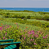 View of Great Salt Pond on Block Island, Rhode Island
