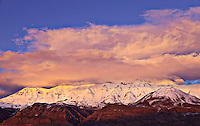 Sunset and Clouds on Mt. Timpanogos