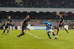 October 21, 2017 - Napoli, Napoli, Italy - Naples - Italy 21/10/2017.LORENZO INSIGNE of  S.S.C. NAPOLI   and MILAN SKRINIAR  of  Inter  fights for the ball during Serie A  match between S.S.C. NAPOLI and Inter  at Stadio San Paolo of Naples. (Credit Image: © Emanuele Sessa/Pacific Press via ZUMA Wire)