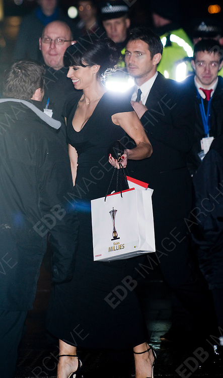 19.DECEMBER.2011. LONDON<br /> <br /> CHRISTINE BLEAKLEY AND FRANK LAMPARD AT THE SUN MILITARY AWARDS 2011 AT THE IMPERIAL WAR MUSEUM IN LONDON<br /> <br /> BYLINE: EDBIMAGEARCHIVE.COM<br /> <br /> *THIS IMAGE IS STRICTLY FOR UK NEWSPAPERS AND MAGAZINES ONLY*<br /> *FOR WORLD WIDE SALES AND WEB USE PLEASE CONTACT EDBIMAGEARCHIVE - 0208 954 5968*