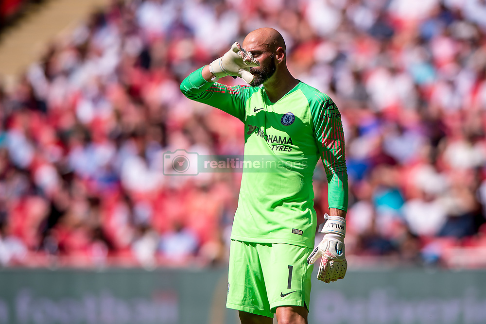August 5, 2018 - Wilfredo Caballero of Chelsea during the 2018 FA Community Shield match between Chelsea and Manchester City at Wembley Stadium, London, England on 5 August 2018. (Credit Image: © AFP7 via ZUMA Wire)