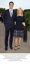 CROWN PRINCE PAVLOS and PRINCESS MARIE CHANTAL OF GREECE, at an exhibition in London on 8th September 2003.PMF 11