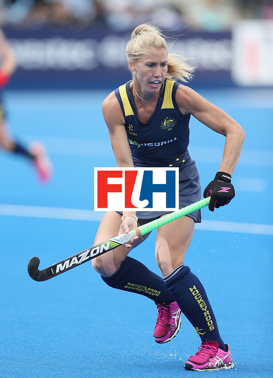 LONDON, ENGLAND - JUNE 21: Casey Sablowski of Australia during the FIH Women's Hockey Champions Trophy match between Australia and Argentina at Queen Elizabeth Olympic Park on June 21, 2016 in London, England.  (Photo by Alex Morton/Getty Images)