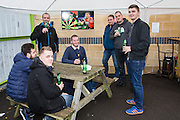 Supporters enjoying the new bar in the South Stand during the Vanarama National League match between Forest Green Rovers and Dagenham and Redbridge at the New Lawn, Forest Green, United Kingdom on 29 October 2016. Photo by Shane Healey.