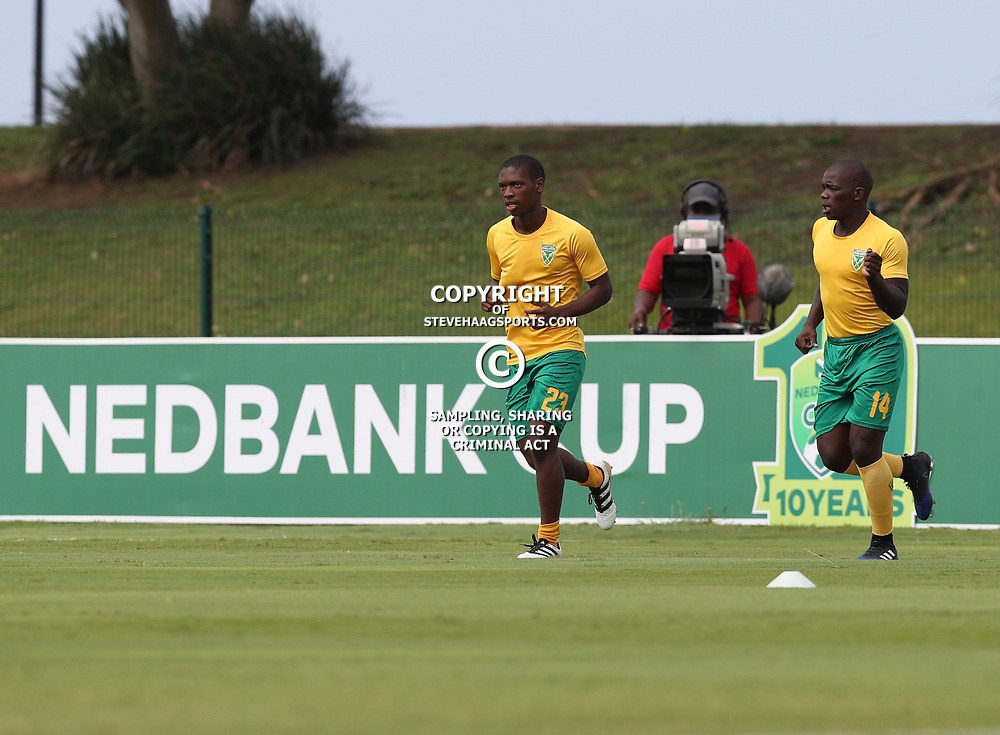 Lungelo Dube of Golden Arrows and Siyabonga Dube of Golden Arrows during the 2017 Nedbank Cup match between Golden Arrows and Maritzburg Utd held at the Princess Magogo Stadium in Durban, South Africa on the 12th March 2017<br /> Photo by:   Steve Haag