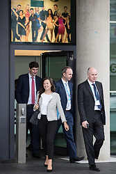 © Licensed to London News Pictures . 01/10/2017. Manchester, UK. Theresa May's Chief of Staff GAVIN BARWELL and other advisors leave the BBC in Salford after the Prime Minister was interviewed for the Marr Show . The Conservative Party Conference at the Manchester Central Convention Centre . Photo credit: Joel Goodman/LNP