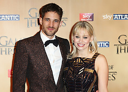 © Licensed to London News Pictures. 18/03/2015, UK. Ian Max Rogers, Kimberly Wyatt, Game of Thrones - Series Five World Premiere, Tower of London, London UK, 18 March 2015. Photo credit : Richard Goldschmidt/Piqtured/LNP