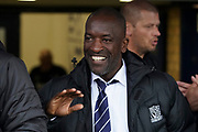 Southend United manager Chris Powell during the EFL Sky Bet League 1 match between Southend United and Oxford United at Roots Hall, Southend, England on 6 October 2018.