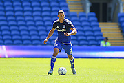 Cardiff' City's Lee Peltier  during the Sky Bet Championship match between Cardiff City and Fulham at the Cardiff City Stadium, Cardiff, Wales on 8 August 2015. Photo by Shane Healey.