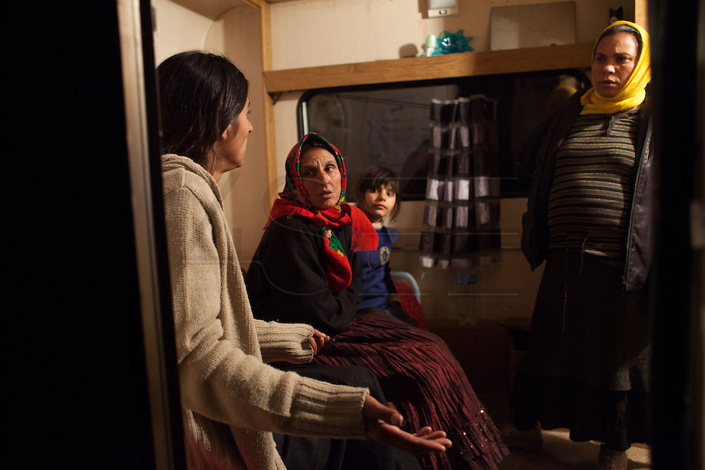 France is the land of destination of many Roma people in their diaspora across Europe, who live camped in many settlements at the outskirts of cities. In 2013, the French Government has expelled thousands of Gypsies from the East as in 2010, 2011 and 2012, this time without any financial aids. Many Roma live afraid to be expelled but they remain in the French country with the hope of receiving some kind of aid. Outskirts of Lille, France. December 2013.