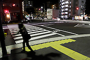person at zebra crossing Japan