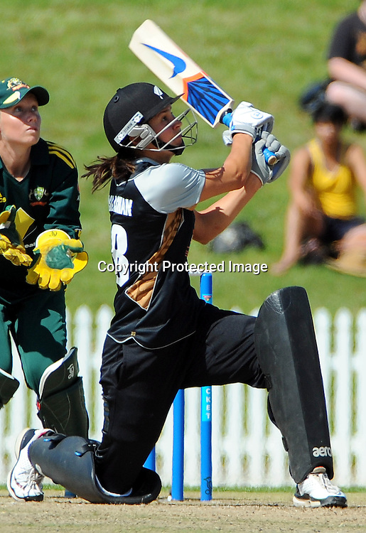 White Ferns player Sara McGlashan. New Zealand White Ferns v Australia. Women's Rose Bowl twenty/20 cricket. Saxton Oval, Nelson, New Zealand. Thursday 30 December 2010. Photo: Chris Symes / www.photosport.co.nz