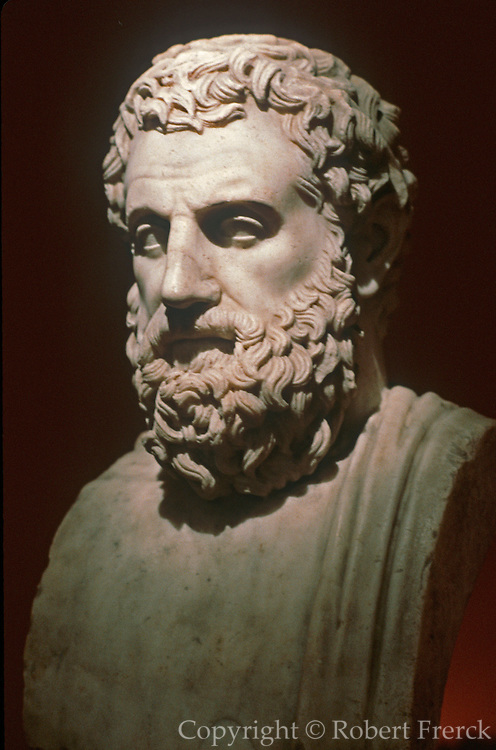 GREECE, HISTORIC ART AND ARTIFACTS Bust of Aeschylos, the father of tragic poetry; from the National Museum