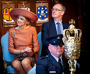 Koning Willem Alexander en koningin Maxima hebben een ontmoeting met Ontmoeting met Lord Mayor Dublin in het Mansion House tijdens de tweede dag van het staatsbezoek aan Ierland. <br /> <br /> King Willem Alexander and Queen Maxima met with Meeting with Lord Mayor Dublin at the Mansion House during the second day of the state visit to Ireland.