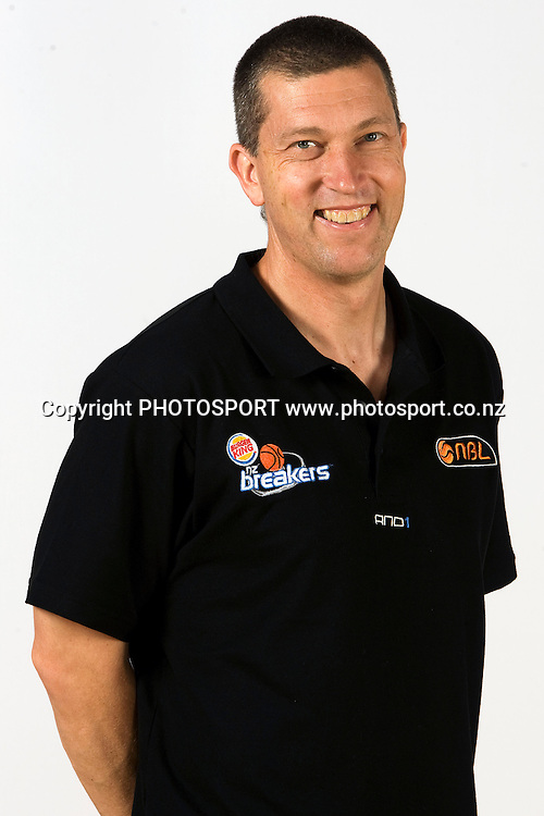 Coach Andrej Lemanis, New Zealand Breakers headshots for the 2010 ANBL basketball season. Breakers Gym, North Shore, Auckland. 24 September 2010. Photo: William Booth/photosport.co.nz