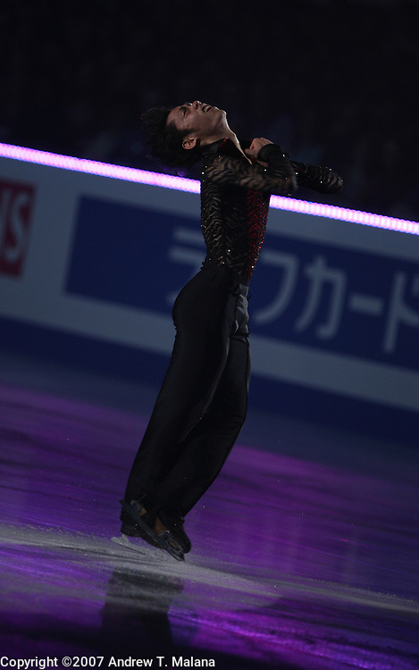 TOKYO - MARCH 25: Daisuke Takahashi of Japan performs in an exhibition program during at the World Figure Skating Championships at the Tokyo Gymnasium on March 25, 2007 in Tokyo, Japan. (Photo by Andrew T. Malana)..