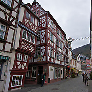 """Like many of the medieval buildings in Bernkastel-Kues, this weinstube is """"leaning over"""" Somewhat perfect if you consider the town is famous for it's wines."""