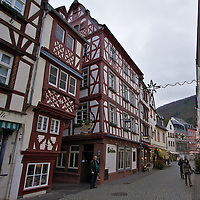 "Like many of the medieval buildings in Bernkastel-Kues, this weinstube is ""leaning over"" Somewhat perfect if you consider the town is famous for it's wines."