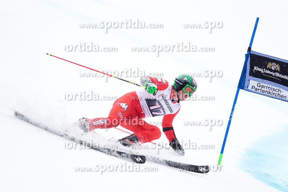 01.03.2015, Kandahar, Garmisch Partenkirchen, GER, FIS Weltcup Ski Alpin, Riesenslalom, Herren, 1. Lauf, im Bild Florian Eisath (ITA) // Florian Eisath of Italy in action during 1st run for the men's Giant Slalom of the FIS Ski Alpine World Cup at the Kandahar course, Garmisch Partenkirchen, Germany on 2015/03/01. EXPA Pictures © 2015, PhotoCredit: EXPA/ Johann Groder