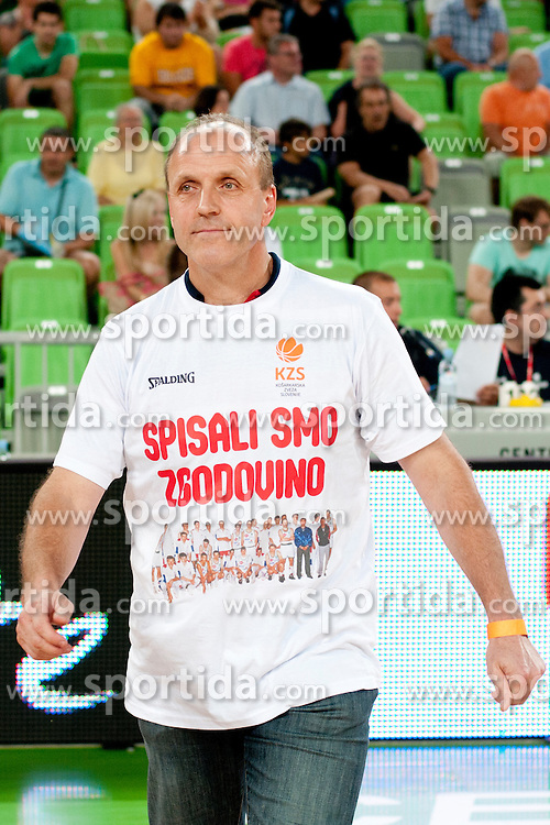 Dusan Hauptman during friendly basketball match between National teams of Slovenia and Croatia of Adecco Ex-Yu Cup 2012 as part of exhibition games 2012, on August 4, 2012, in Arena Stozice, Ljubljana, Slovenia. (Photo by Urban Urbanc / Sportida)