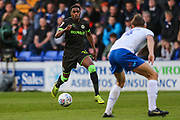 Forest Green Rovers Reece Brown(10) runs forward during the EFL Sky Bet League 2 play off first leg match between Tranmere Rovers and Forest Green Rovers at Prenton Park, Birkenhead, England on 10 May 2019.