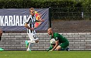 2.7.2014, Veritas Stadion, Turku.<br /> Veikkausliiga 2014.<br /> FC Inter Turku - Turun Palloseura.<br /> Magnus Bahne (Inter) v Patrik Lomski (TPS).