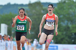 05/08/2017; Muro Padilla, Lucia Fernanda, T38, MEX, Braun, Vanessa, GER at 2017 World Para Athletics Junior Championships, Nottwil, Switzerland