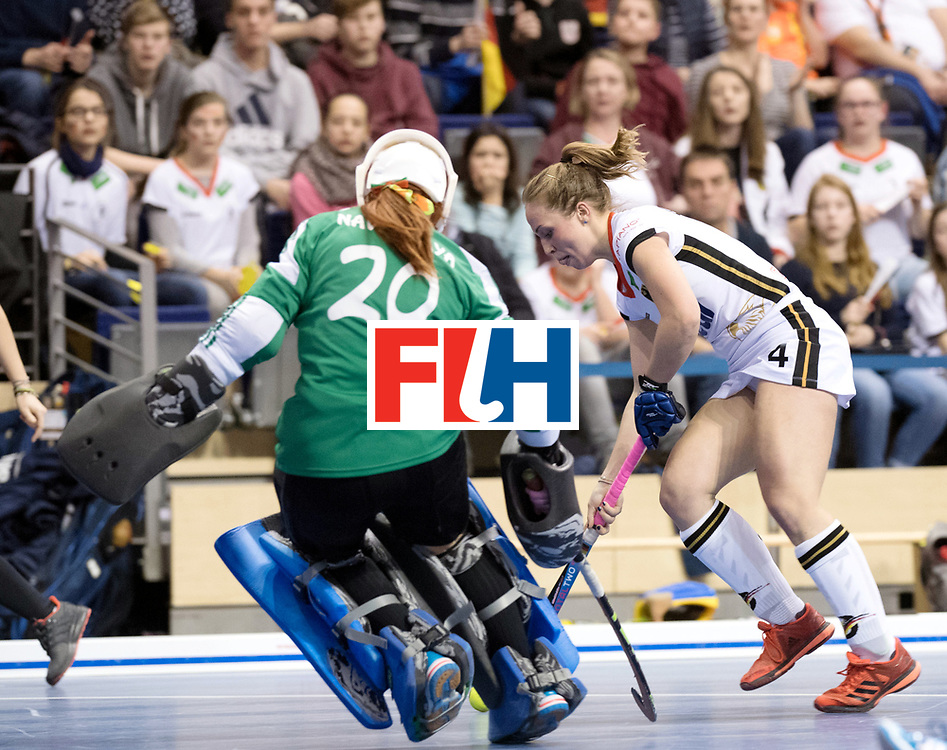 BERLIN - Indoor Hockey World Cup<br /> SF2 Belarus - Germany<br /> foto: Nike Lorenz  <br /> WORLDSPORTPICS COPYRIGHT FRANK UIJLENBROEK