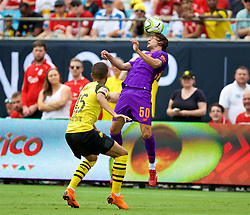 CHARLOTTE, USA - Sunday, July 22, 2018: Liverpool's Lazar Markovic during a preseason International Champions Cup match between Borussia Dortmund and Liverpool FC at the  Bank of America Stadium. (Pic by David Rawcliffe/Propaganda)