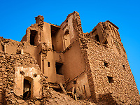 AIT BEN HADDOU, MOROCCO - CIRCA APRIL 2017: Buildings in disrepair at the Ksar Ait Ben Haddou