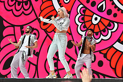 Anne-Marie during Capital's Summertime Ball with Vodafone at Wembley Stadium, London. This summer's hottest artists performed live for 80,000 Capital listeners at Wembley Stadium at the UK's biggest summer party. Performers included Camila Cabello, Shawn Mendes, Rita Ora, Charlie Puth, Jess Glyne, Craig David, Anne-Marie, Rudimental, Sean Paul, Clean Bandit, James Arthur, Sigala, Years & Years, Jax Jones, Raye, Jonas Blue, Mabel, Stefflon Don, Yungen and G-Eazy
