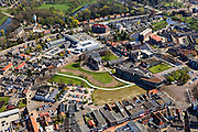 Nederland, Drenthe, Coevorden, 01-05-2013;<br /> centrum van de stad met rond de Markt het Kasteel van Coevorden en Hof van Coevorden. Haven en Arsenaal rechtsboven.<br /> Town centre Coevorden.<br /> luchtfoto (toeslag op standard tarieven)<br /> aerial photo (additional fee required)<br /> copyright foto/photo Siebe Swart