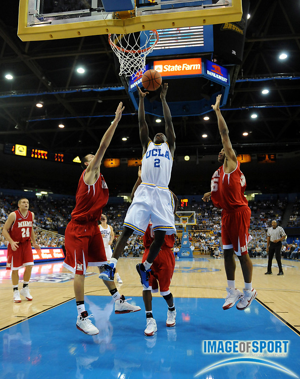 Nov 13, 2008; Los Angeles, CA, USA; UCLA Bruins guard Darren Collison (2) goes up for a shot against Miami (OH) in the second round of the 2K Sport Classic at Pauley Pavilion. UCLA defeated Miami (OH) 62-59.