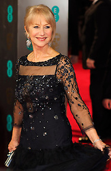 Helen Miirren arrives at the BAFTA Film Awards. London, United Kingdom. Sunday, 16th February 2014. Picture by Max Nash / i-Images