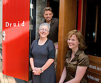Druid director Garry Hynes, Aisling O Sullivan and Keith Duffy who started their first day of rehearsals yesterday at Druid for their production of Big Maggie  which runs in theatres all over Ireland from November 11 till February 2012. Photo:Andrew Downes