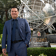 SUNNY ISLES BEACH, FL - OCTOBER 25, 2016:<br /> Roman Bokeria, President and CEO of Miami Red Square Realty, in front of the Trump International Beach Resort near  his Sunny Isles Beach office. Brokeria is a realtor and investor who deals with Russian speaking buyers/investors among others. (Photo by Angel Valentin/For The Washington Post)