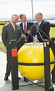 19/05/2015 Repro free HRH The Prince of Wales on his visit to the Marine Institute where he met An Taoiseach Enda Kenny TD , Mr Mick Gollooly, Marine Institute,  and talked to the Marine Institute staff about their work in areas including analysing the impact of Climate change on the ocean , sustainable fisheries , marine bio discovery and international collaboration on Ocean research. Photo: Andrews Downes XPOSURE
