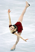 U.S. figure skater Sasha Cohen performs during the Women's Free Skating Program at the Palavela ice arena on Thursday February 23, 2006 in Turin, Italy at the 2006 Winter Olympics. U.S. figure skater Sasha Cohen led all skaters going into the evening and finished the night with a silver medal with a total score of 183.36. Japan's Shizuka Arakawa won the gold with a score of 191.34 and Russia's Irina Slutskaya won the bronze with a score of 181.44..(Photo by Marc Piscotty / © 2006)