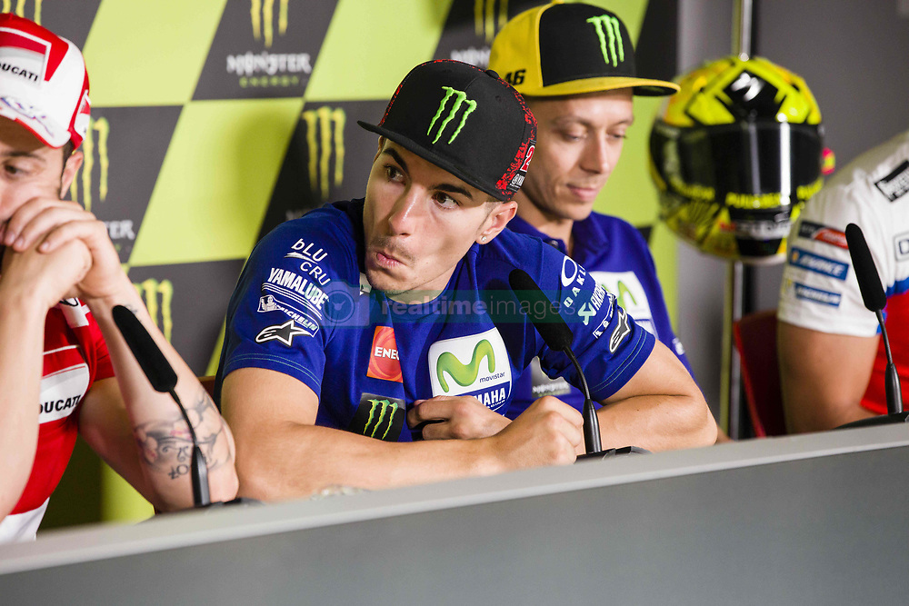 June 8, 2017 - Barcelona, Spain - MotoGP, Maverick Vinales(Spa), Movistar Yamaha Motogp Team during the press conference of MotoGp Grand Prix Monster Energy of Catalunya, in Barcelona-Catalunya Circuit, Barcelona on 8th June 2017 in Barcelona, Spain. (Credit Image: © Urbanandsport/NurPhoto via ZUMA Press)