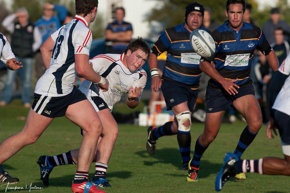 Blues Vs Woodlands at Blues Rugby Ground, Invercargill, New Zealand, Saturday April 28, 2012. Credit:Teaukura Moetaua / Media Sport