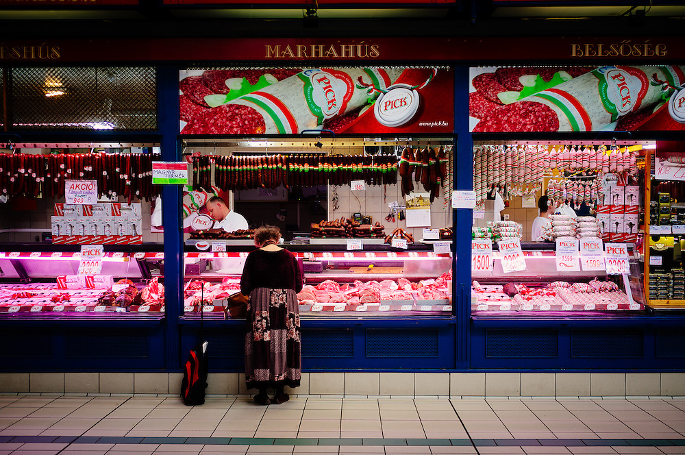 A butchers in the Great Market Hall