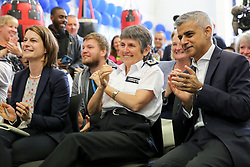 © London News Pictures. 27/06/2017. London, UK. The Mayor of London, Sadiq Khan and the Met Police Commissioner, Cressida Dick at Dwaynamics Boxing Club. The Mayor of London, Sadiq Khan and the Met Police Commissioner, Cressida Dick, launches a knife crime strategy at Dwaynamics Boxing Club, which will tackle the deeply concerning rise in knife crime across the capital, especially among young Londoners. Photo credit: Dinendra Haria/LNP