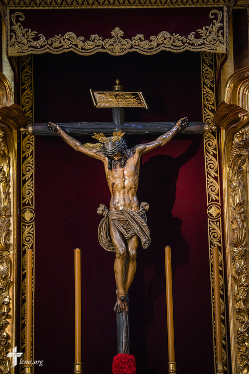 A crucifix at the Church of the Divine Savior on Monday, Nov. 7, 2016, in Seville, Spain.  LCMS Communications/Erik M. Lunsford