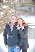Nicole & Wes' Wintery Cambridge Engagement Session