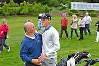 OOSTERHOUT - Nationaal Open 2010 heren op de Oosterhoutse Golf.  Winnaar Daan Huizing  met Tim Giles. COPYRIGHT KOEN SUYK
