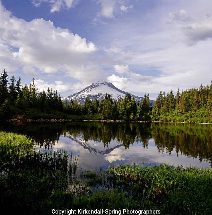 BB02057-04...OREGON - Mount Hood reflecting in Mirrow Lake in Mount Hood National Forest.