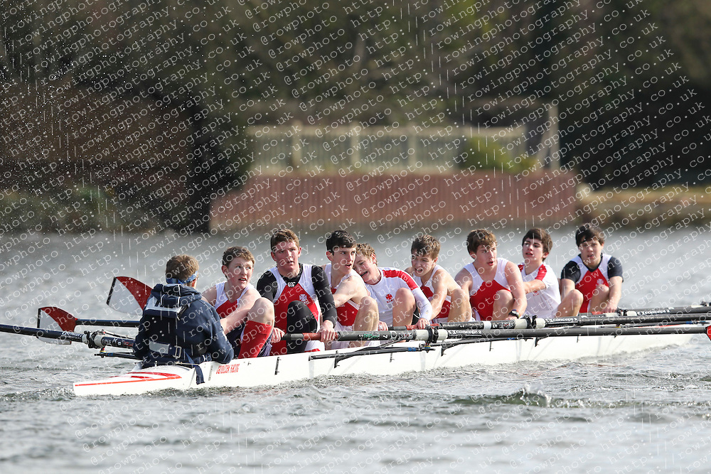 2012.02.25 Reading University Head 2012. The River Thames. Division 1. Radley College Boat Club B J15A 8+