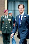 DEN HAAG - 28-06-2014 - De Nationale Veteranendag is zaterdagochtend gestart met een bijeenkomst in de Ridderzaal, waar premier  Mark Rutte een toespraak hield. Koning Willem-Alexander neemt later vandaag in ceremonieel uniform het defilé af. COPYRIGHT ROBIN UTRECHT